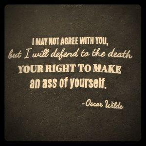 Oscar Wilde quote tee